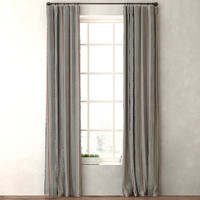 curtains vintage baseball stripe max