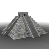 3d model ancient mayan pyramid