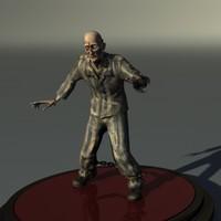 prisoner zombie 3d obj