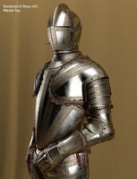 3d model knight armor
