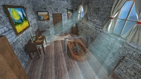3d middle age interior