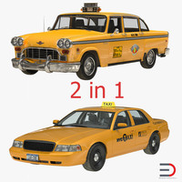 3ds nyc taxi cars