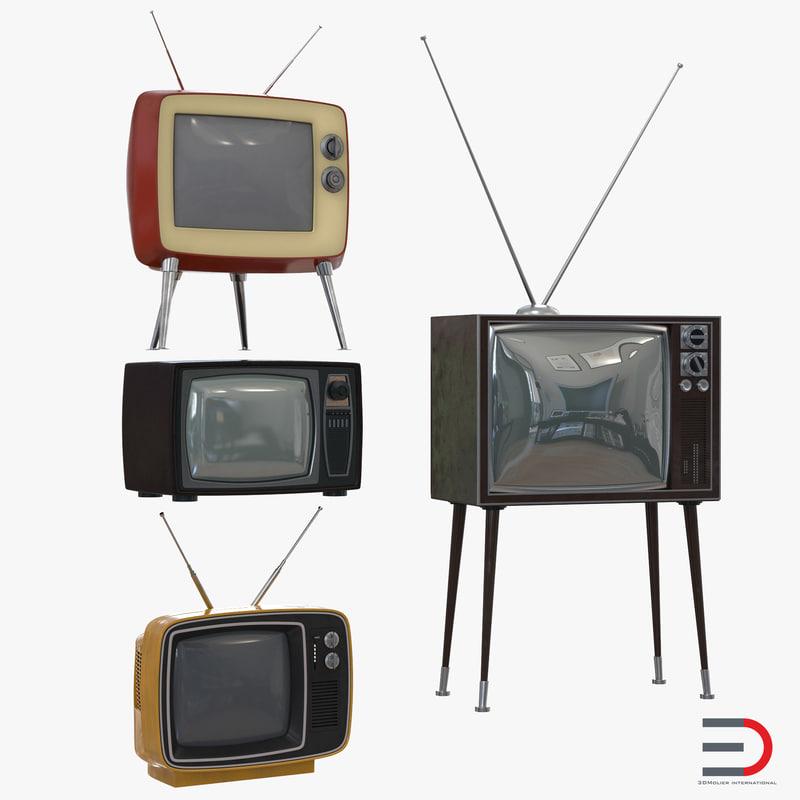 Retro TV Collection 3d models 00.jpg