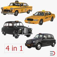 3d taxi cars