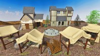 middle age exterior 3d max