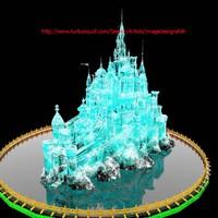 3d castle ice sculpture model