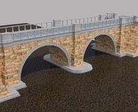 3d old bridge