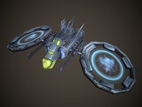 3d model starship handpainted