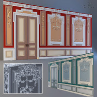 Wall design with stucco and molding