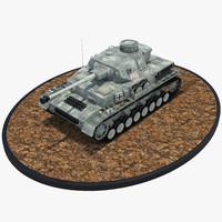 3d obj pzkpfw iv - panzer