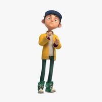 max rigged cartoon boy character