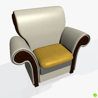 3d model of leather armchair sofas