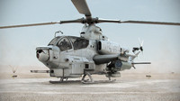 c4d bell ah-1z viper attack helicopter