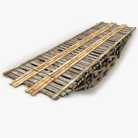 3d max modeled old wooden bridge