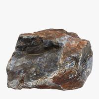 3d flint stone model