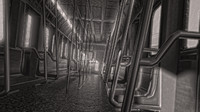 subway train interior 3d model