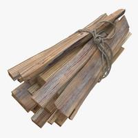 3d model of firewood