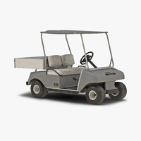 golf cart gray 3d max