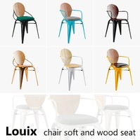 louix chair soft seat 3d model