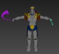 3d viking king model