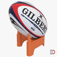 rugby ball set football 3d max