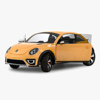 3d model volkswagen beetle 2016 yellow