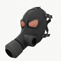3d model of gas mask