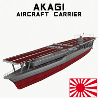 3d akagi aircraft carrier