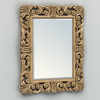 obj carved rectangle mirror frame