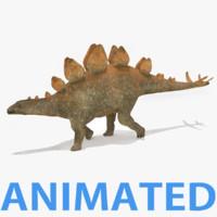 3d stegosaurus dinosaur model