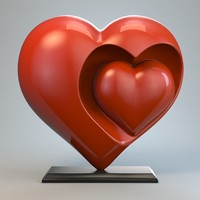 heart sculpture love 3d 3ds