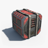 3d sci-fi container 02 model