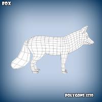 3d c4d base mesh fox