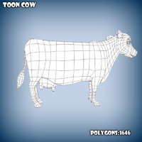 base mesh cartoon cow obj