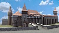 corvin castle 3d obj