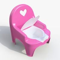 3d model baby toilet