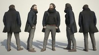 3d scanned people architectural model