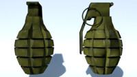 mk2 fragmentation grenade fbx