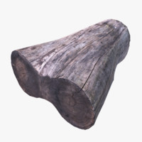 wooden stump 3d model