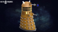 dalek doctor 3d model