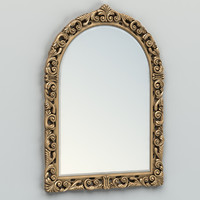 carved rectangle mirror frame 3d max