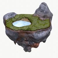 3d model floating wild island