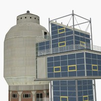 3d water tower neunkirchen germany model
