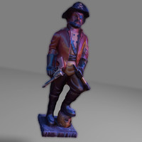 pirate captain 3d ma
