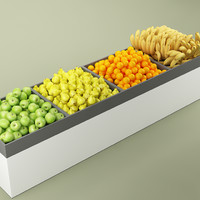 fruit stand store 02 3d max