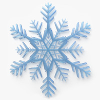 engines low-poly snowflake 3d model