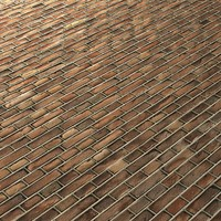 Seamless Orange Brick Wall extruded beaded grout joint