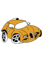 Cartoon car yellow