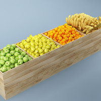 3d fruit stand store 04 model