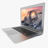 3d macbook air 13 inch model